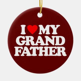 I LOVE MY GRANDFATHER CHRISTMAS ORNAMENTS