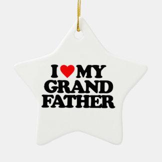 I LOVE MY GRANDFATHER ORNAMENT