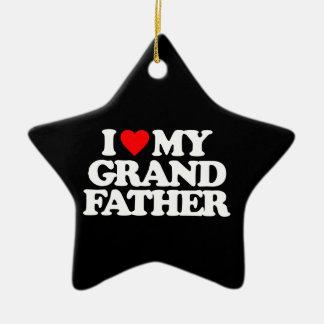 I LOVE MY GRANDFATHER CHRISTMAS ORNAMENT
