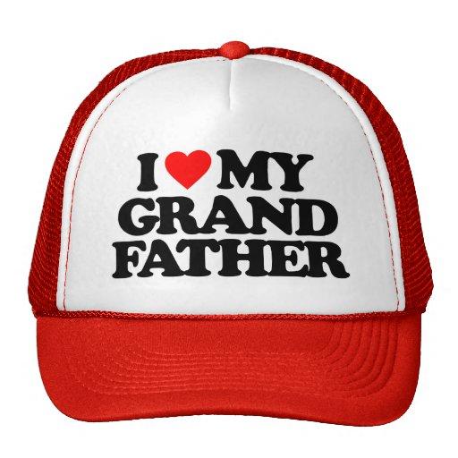 I LOVE MY GRANDFATHER MESH HAT