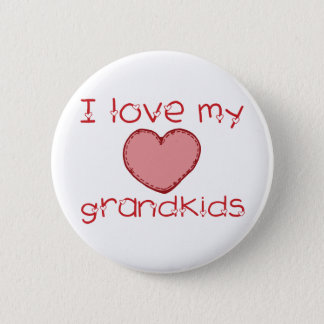 I love my grandkids 6 cm round badge