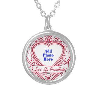 I Love My Grandkids! Photo Red Hearts Custom Jewelry