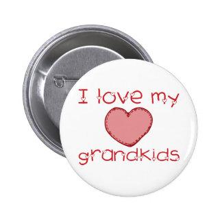 I love my grandkids pinback button