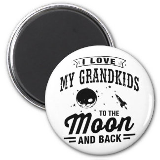 I Love My Grandkids To The Moon And Back 6 Cm Round Magnet