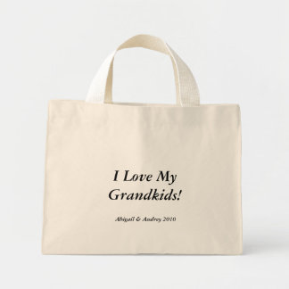 I love my grandkids! canvas bags