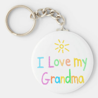 I Love my Grandma Basic Round Button Key Ring