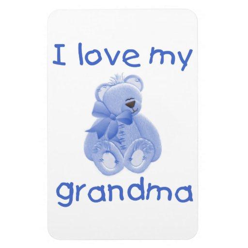 I love my grandma (blue bear) rectangle magnet