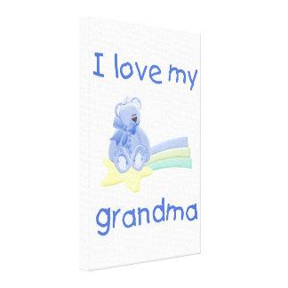 I Love My Grandma blue bear w star Gallery Wrap Canvas