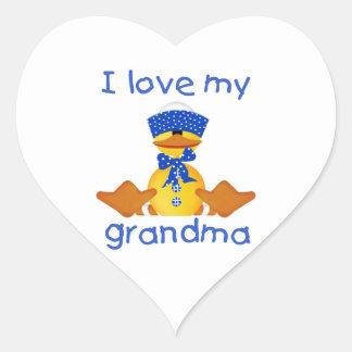 I love my grandma (boy ducky) stickers