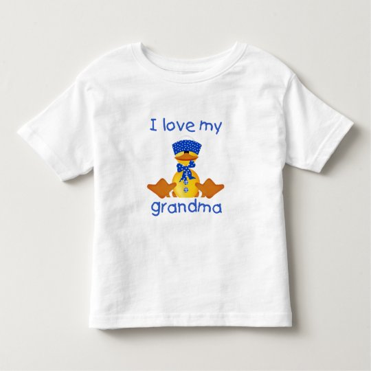 I love my grandma (boy ducky) toddler T-Shirt