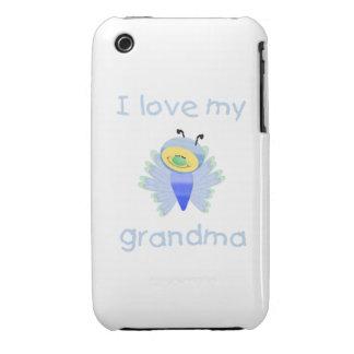 I love my grandma boy flutterby Case-Mate iPhone 3 case