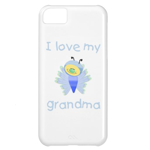 I love my grandma (boy flutterby) cover for iPhone 5C