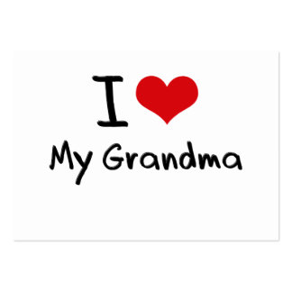 I Love My Grandma Large Business Cards (Pack Of 100)