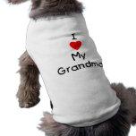 I love my grandma doggie t-shirt