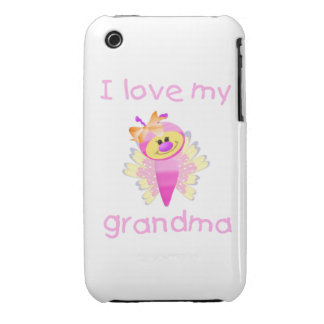 I love my grandma (girl flutterby) iPhone 3 cases