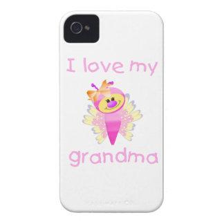 I love my grandma (girl flutterby) Case-Mate iPhone 4 case