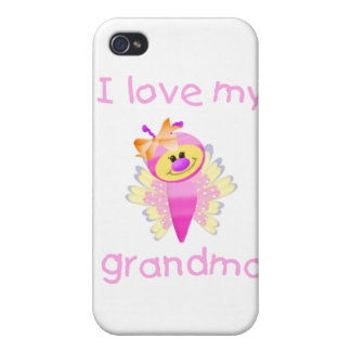 I love my grandma (girl flutterby) iPhone 4/4S cases