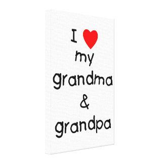 I love my grandma grandpa canvas print