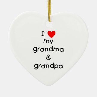 I love my grandma & grandpa christmas ornament