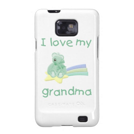 I Love My Grandma (green bear w/ star) Galaxy SII Cover