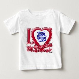 I Love My Grandma red heart - photo T Shirt