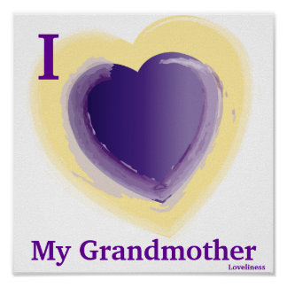 I Love My Grandmother Personalized Poster