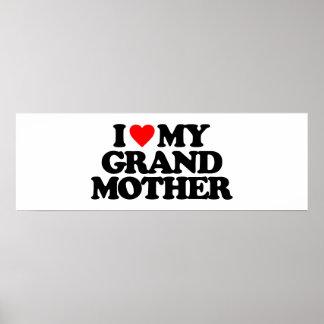 I LOVE MY GRANDMOTHER PRINT