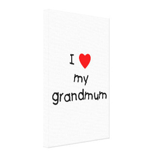 I Love My Grandmum Canvas Print
