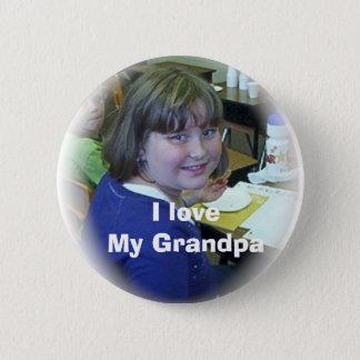 I love My Grandpa 6 Cm Round Badge
