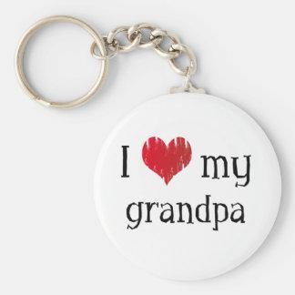 I Love my grandpa Basic Round Button Key Ring