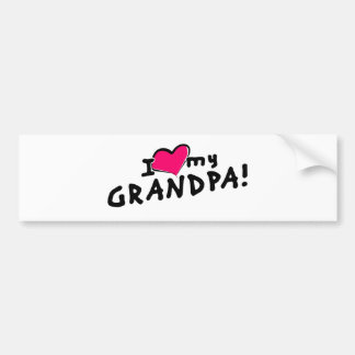 I love my grandpa! bumper sticker