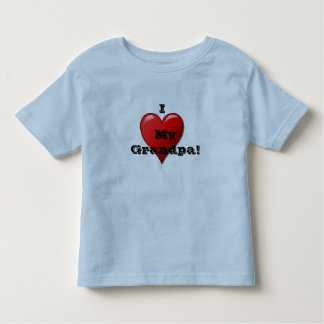 I Love My Grandpa Child's Heart T Shirt