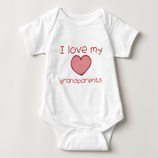 I love my grandparents baby bodysuit