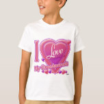 I Love My Grandparents pink/purple - heart T Shirt