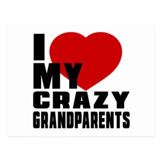 I LOVE MY GRANDPARENTS POSTCARD