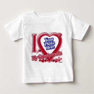 I Love My Grandparents red heart - photo Tshirts