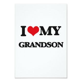 I love my Grandson 9 Cm X 13 Cm Invitation Card
