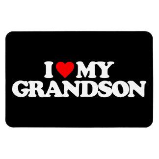 I LOVE MY GRANDSON RECTANGLE MAGNET