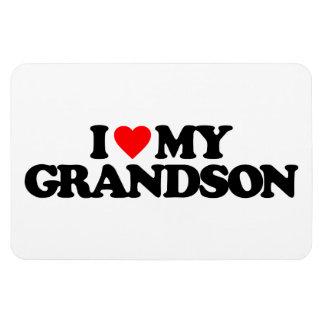I LOVE MY GRANDSON RECTANGULAR MAGNET