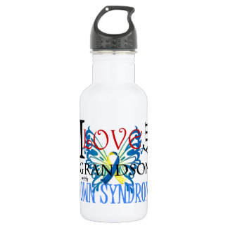 I Love My Grandson with Down Syndrome 532 Ml Water Bottle