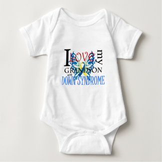 I Love My Grandson with Down Syndrome Baby Bodysuit