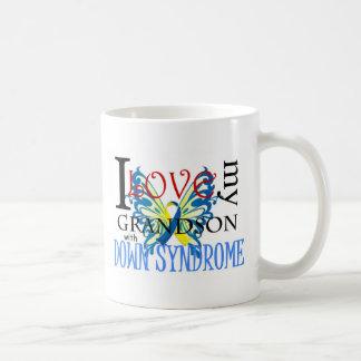 I Love My Grandson with Down Syndrome Basic White Mug