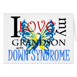 I Love My Grandson with Down Syndrome Greeting Card