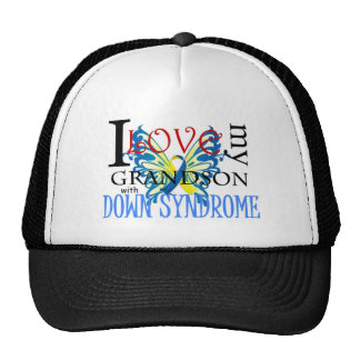 I Love My Grandson with Down Syndrome Hats