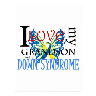 I Love My Grandson with Down Syndrome Postcard