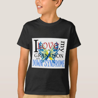 I Love My Grandson with Down Syndrome Tee Shirts