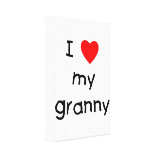 I love my granny stretched canvas print