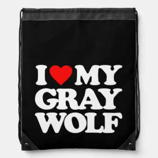 I LOVE MY GRAY WOLF BACKPACK