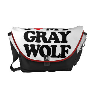 I LOVE MY GRAY WOLF COURIER BAGS