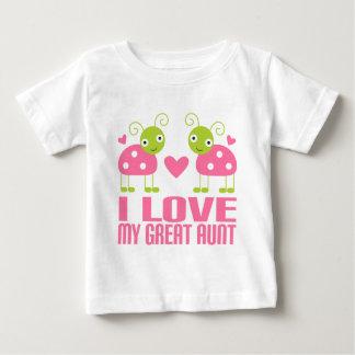I Love My Great Aunt Ladybug Shirts